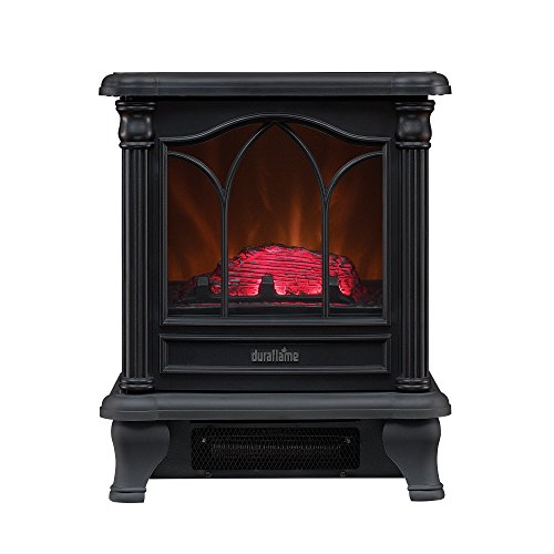 Duraflame DFS-450-2 Carleton Electric Stove with Heater, Black (Black Electric Fireplace Heater)