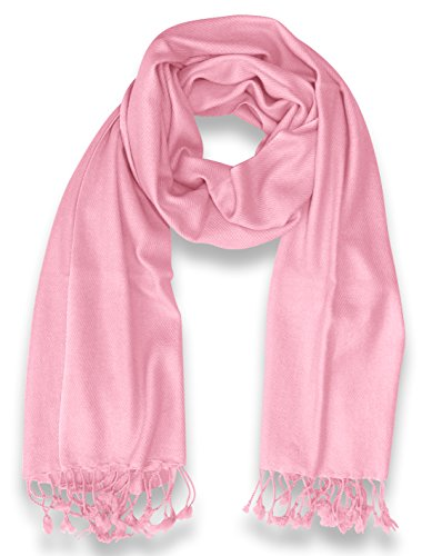 Elegant Soft Luxurious Pashmina Cashmere Wrap shawl stole From Peach Couture (Baby Pink)
