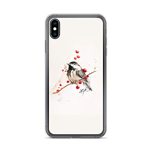 iPhone Xs Max Case Anti-Scratch Creature Animal Transparent Cases Cover Chickadee Animals Fauna Crystal Clear