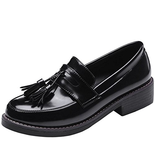 Zanpa black Femmes Brogue 3 Classique Chaussures w4wrS8qxT