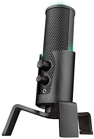 Microfone Streaming LED USB 4-in-1 GXT 258 Fyru para fluxos no YouTube, Twitch e Facebook – PC e Portátil – 23465 Trust