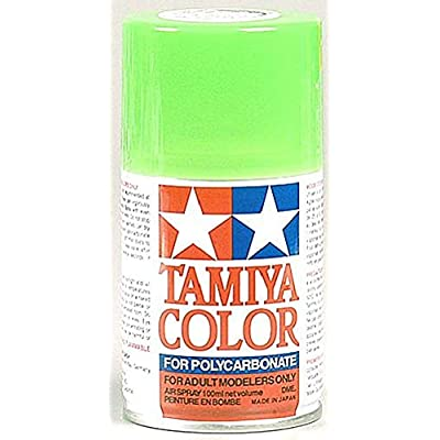 Tamiya America, Inc Polycarbonate PS-28 Fluorescent Green, Spray 100ml, TAM86028: Toys & Games