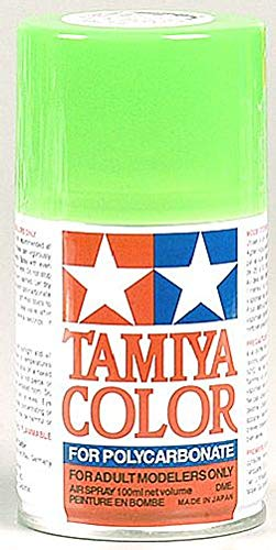 Tamiya America, Inc Polycarbonate PS-28 Fluorescent Green, Spray 100ml, TAM86028