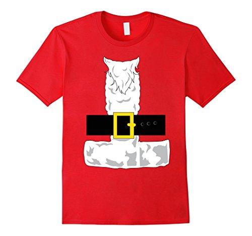 Santa Outfits For Men (Mens SANTA CLAUS COSTUME Outfit Christmas Shirt | Xmas T-Shirt 2XL Red)