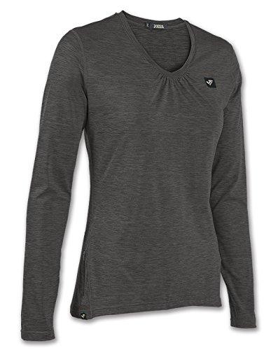 Joma - Camiseta outdoor antracita m/l para mujer