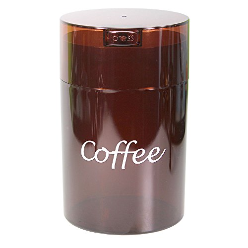Coffeevac 1 lb - The Ultimate Vacuum Sealed Coffee Container, Coffee Tint w/Logo
