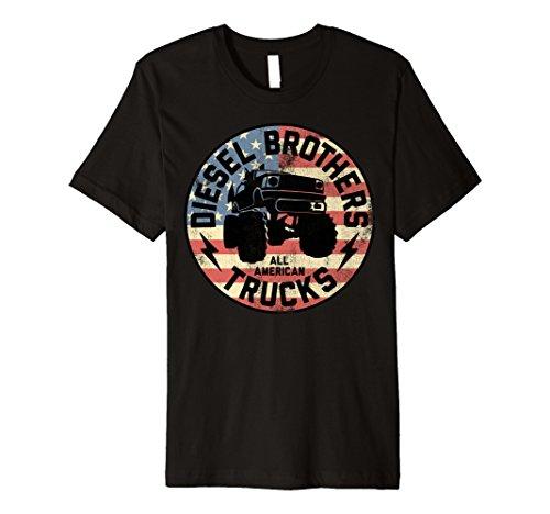 Apparel Womens Diesel (Diesel Brothers Flag Truck Seal Vintage Premium T-Shirt)