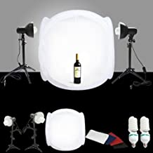"CanadianStudio STUDIO IN A BOX PHOTO LIGHT TENT PHOTOGRAPHY SET Continuous Light Kit, 16"" light tent with 4 pcs backdrops"