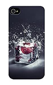 F38b03d2394 Graceyou Awesome Case Cover Compatible With Iphone ipod touch4 - Cherry In Ice Cube