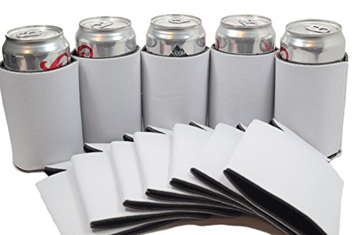 QualityPerfection 25 White Party Drink Blank Can Coolers(12 or 25 Bulk Pack)Blank Beer and Soda Coolies Sleeves|Soft, Insulated Coolers|16 Colors|Perfect For DIY Projects,Holidays,Parties,Events