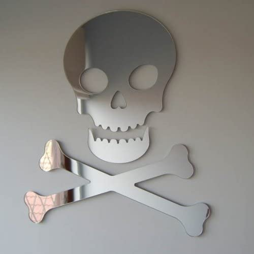 Pirate Skull and Cross Bones Mirror 45cm X 40cm
