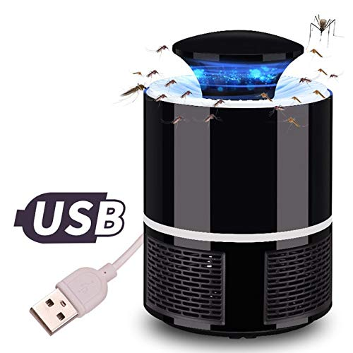 New Mosquito Killer Pest Control Electric Anti Lamp Mosquito Trap LED pest Catcher Repeller Bug Insect Repellent Zapper Light 5W   Black