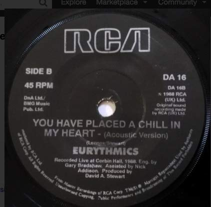 You Have Placed A Chill In My Heart UK 7""