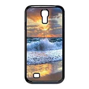 Qxhu Waves Beach Protective Snap On Hard Plastic Case for SamSung Galaxy S4 I9500