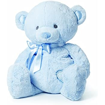 Amazon Com Nat And Jules Blue Bear Plush Toy Extra Large