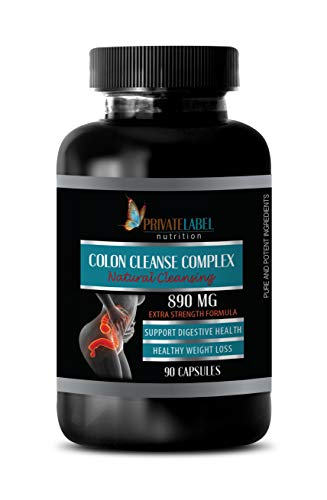 Colon Detox for Weight Loss - Colon Cleanse Complex - Natural Cleansing - Ginger Root Extract - 1 Bottle 90 Capsules