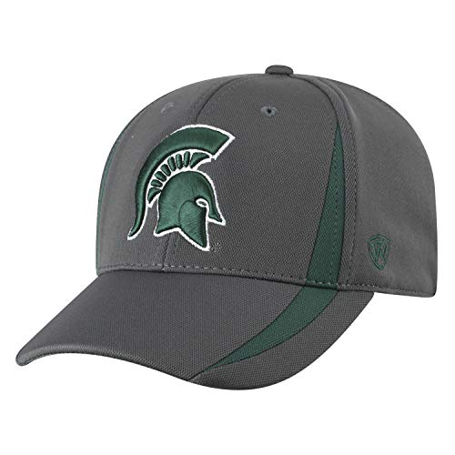 Top of the World Michigan State Spartans Men's Fitted Hat Icon, Charcoal, One Fit