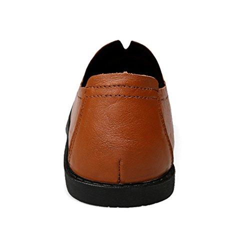 Ocasionales r Zapatos Los Yr Para Hombres Hombres Clásicos De Los De Darkbrown Los Regalos Oficiales Comerciales Cuero Zapatos De qEHd55w