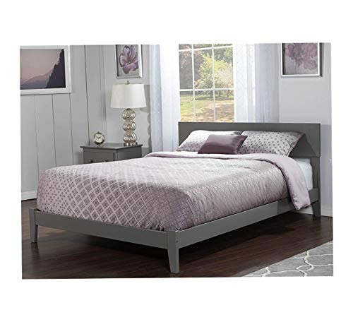 Wood & Style Orlando Traditional Bed, Full, Grey Comfy Living Home Décor Furniture Heavy Duty (Furniture Orlando Designer)