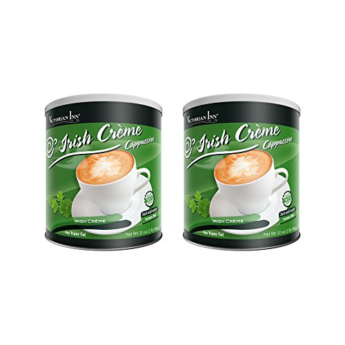 Victorian Inn Instant Cappuccino, Irish Creme, 32-Ounce Canisters (Pack of 2) ()