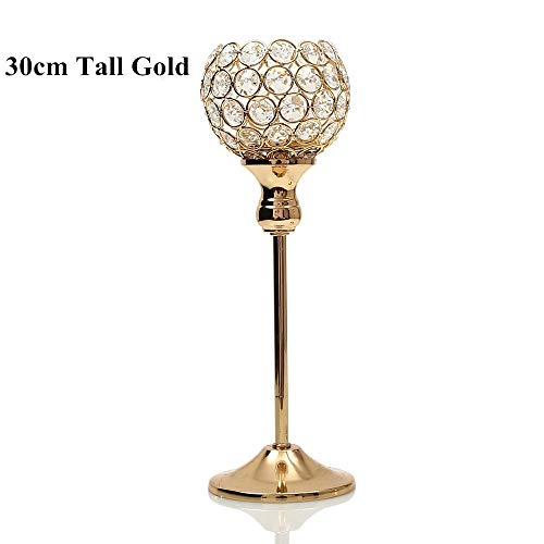 SULYMY | Candle Holders | Crystal Metal Candle Tealight Holders Stand Candlesticks Wedding Table Centerpieces Christmas Halloween Thanksgiving -