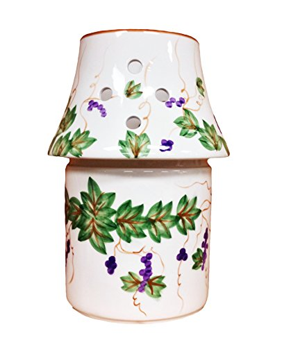 Tuscany Hand Painted Grapevine Collection 2-piece Candle Jar Holder, 80227 by -