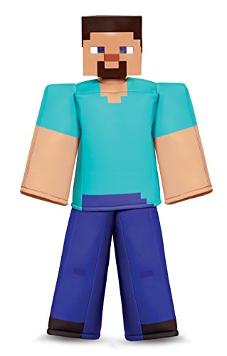 Minecraft Steve Costume For Halloween (Steve Prestige Minecraft Costume, Multicolor, Medium)