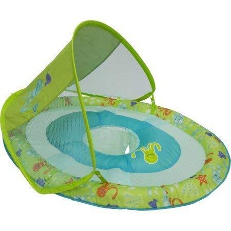 - SwimWays Baby Spring Float Sun Canopy (Green Print)