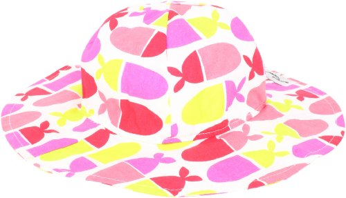 Flap Happy Little Girls' UPF/UV50+ Floppy Hat, Jellybean Fish, Large