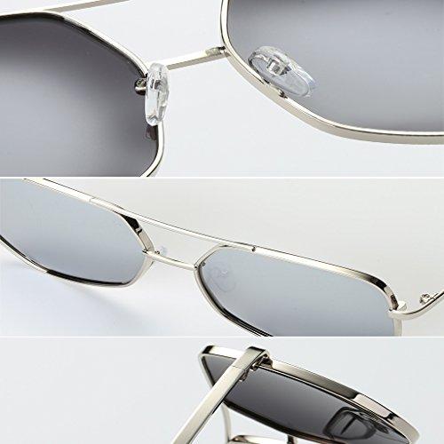 Personnelles Noir De Polarized De Couleur Lunettes WANGXIAOLIN Sunglasses Lunettes Men's Soleil Soleil Silver Retro Style axPxznY