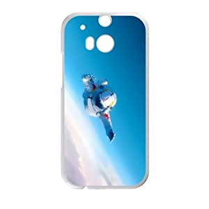 HTC One M8 Cell Phone Case White Red Bull Stratos LV7167960