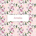 Baby-Be-Mine-Newborn-Baby-Swaddle-Blanket-with-Matching-Knotted-Hat-Amelia-Print