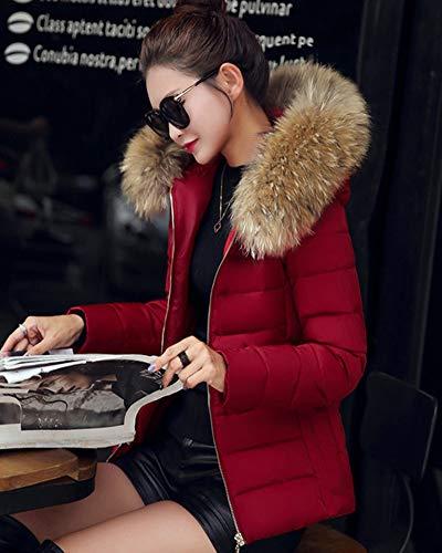 Capucha con Caliente rojo Chaquetas Mujer Chaqueta con De Abrigo 0rXqOwn0