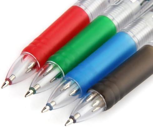 12 x Kugelschreiber Kulli Schreibzeug 0,7 mm 4 Farben Gelmine Schule Buero Trend
