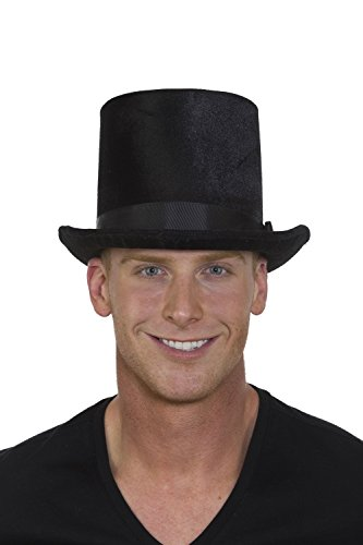 Band Black Top Hat (Jacobson Hat Company Unisex-Adults Tall Top Hat Band 3, Black, Adjustable)