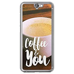 Loud Universe HTC One A9 Coffee And You Printed Transparent Edge Case, Multi Color