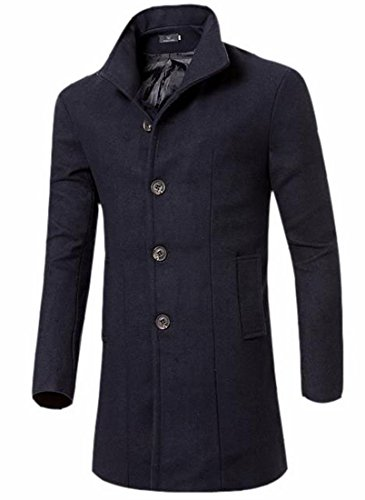 today Fit blue Slim Business UK Men's Fashion Front Jacket French Classic Navy Long Coat SwrS1Aqzx