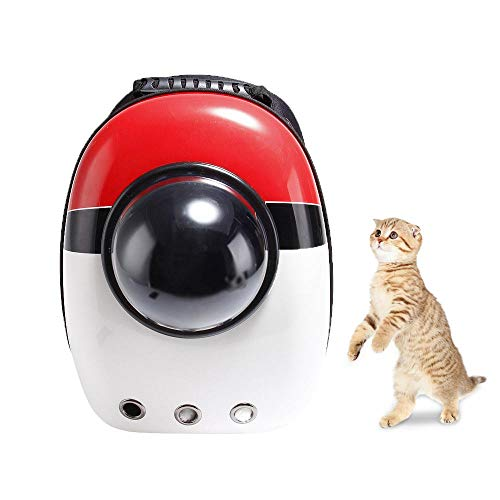 Aolvo Portable Breathable Space Capsule Bubble Pet Carrier Backpack, Pet Bubble Dome Traveler Knapsack Multiple Air Holes Waterproof Lightweight Bag for Cats Petite Dogs Small Animals