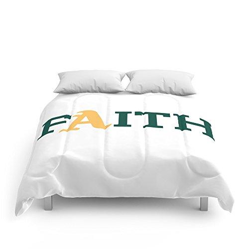 Society6 Oakland A's Faith Comforters King: 104'' x 88'' by Society6