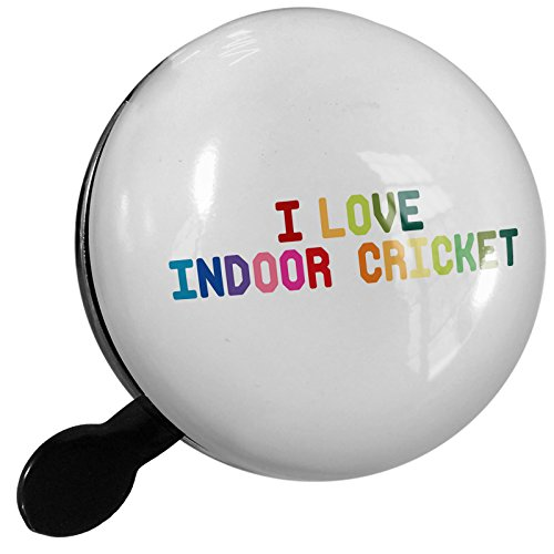 Small Bike Bell I Love Indoor Cricket,Colorful - NEONBLOND by NEONBLOND