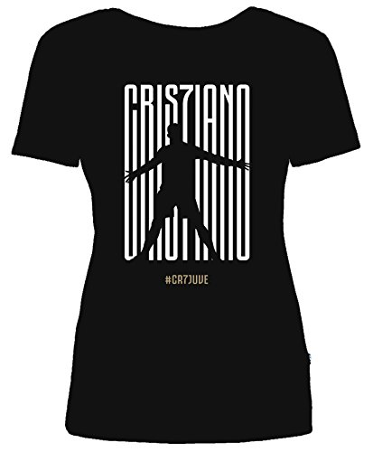 Maglietta Ronaldo Cr7 shirt Donna Cristiano T Juve Modello Maglia Col Nero Juventus xXwwIOqZr