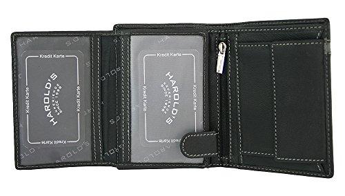 5543 Black blue Blue Grey red Harold`s Wallet Harold`s Wallet Bwqx0PY11U