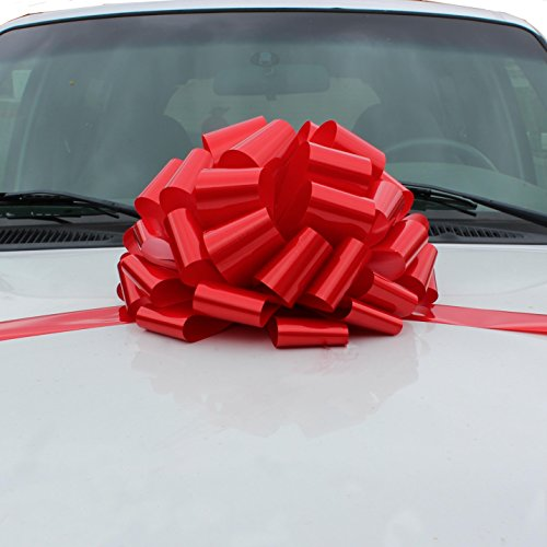 Large Red Car Bow - 16