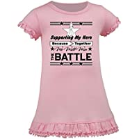 Inktastic - Mesothelioma Supporting My Hero Toddler Dress - HDD