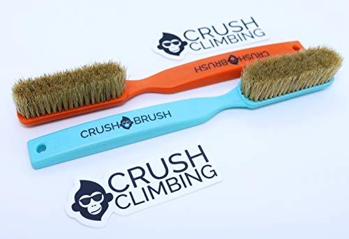 Crush Climbing Crush Brush Boars Hair Large Climbing Brush 2 Pack (Orange and Blue)