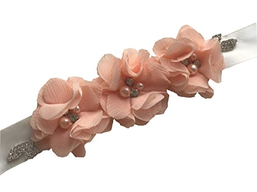 Flowergirl Sashes Wedding Sash Belt Flower Girl Sash Y02 (Girls Blush)