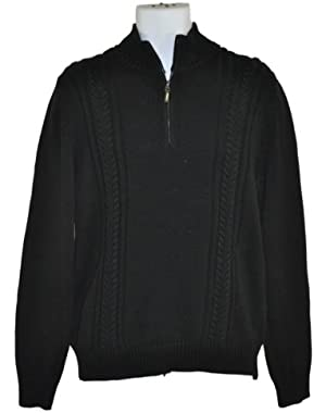 Calvin Klein 1/4 Zip Cabled Sweater