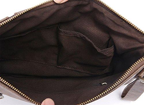 Embrague Retro Bao Bolsa Y Marea Negocios Casual Mujeres Tendencia Brown Bolso Negro De Hombres A8wqA6p