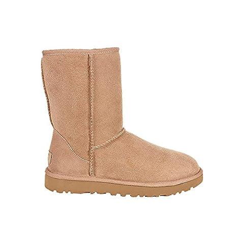 UGG Womens Classic Short II Winter Boot Fawn Size 8 - Fawn Footwear