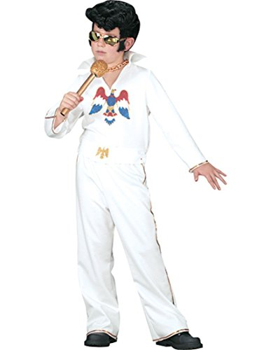 Costumes For All Occasions Xr40085Sm Elvis Child Wht Jumpsuit Sm